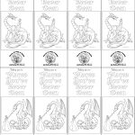 Fantasy Dragon Color Your Own Bookmark | Fantasy Coloring Pages   Free Printable Dragon Bookmarks