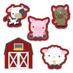 Farm Animals Diy Shaped Paper Cut Outs   Baby Shower Or Birthday   Free Printable Farm Animal Cutouts