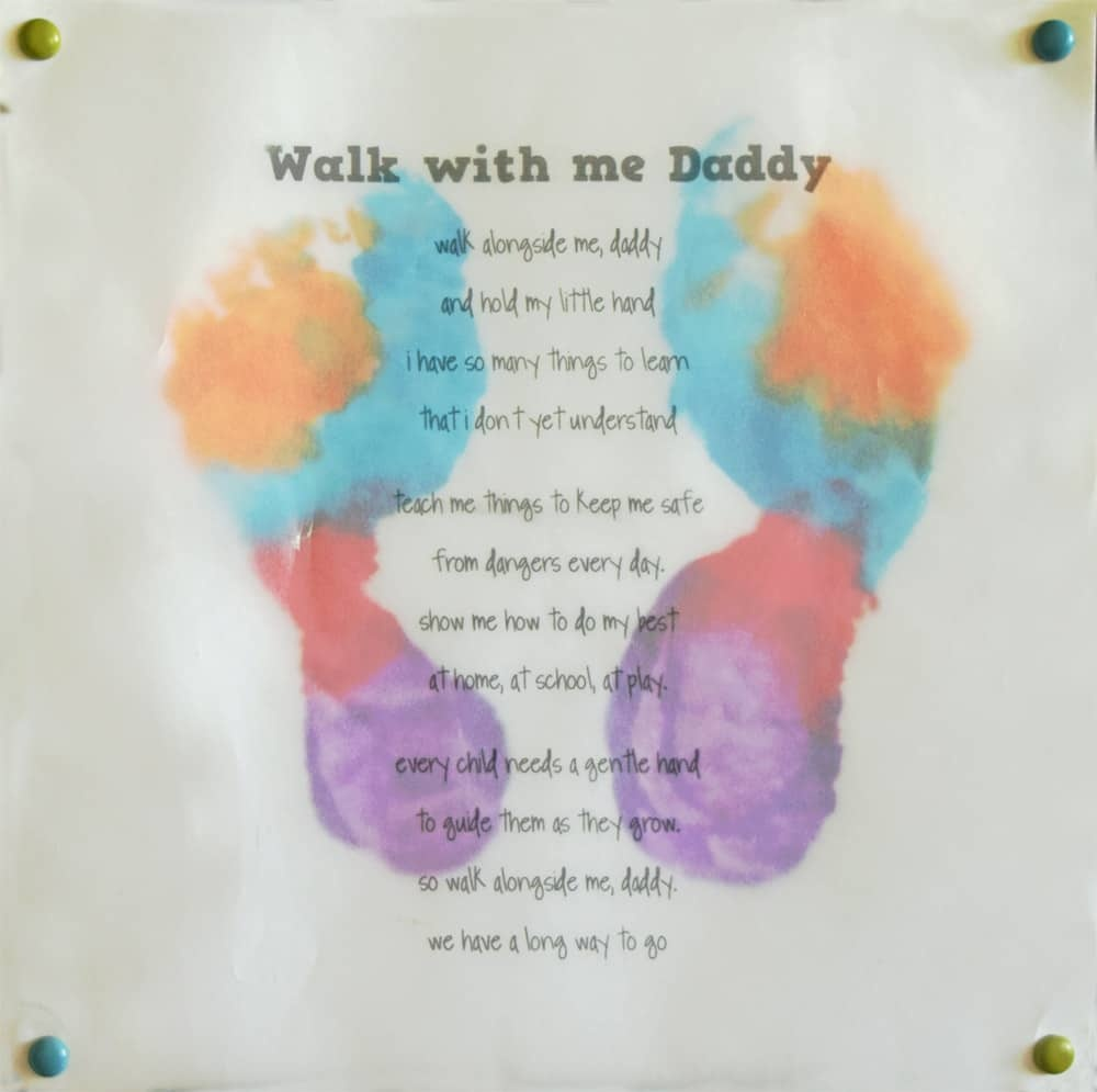 Father's Day Craft Idea (And Poem) - - Free Printable Fathers Day Poems For Preschoolers