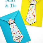 Father's Day Tie Card (With Free Printable Tie Template)   Messy   Free Printable Fathers Day Poems For Preschoolers