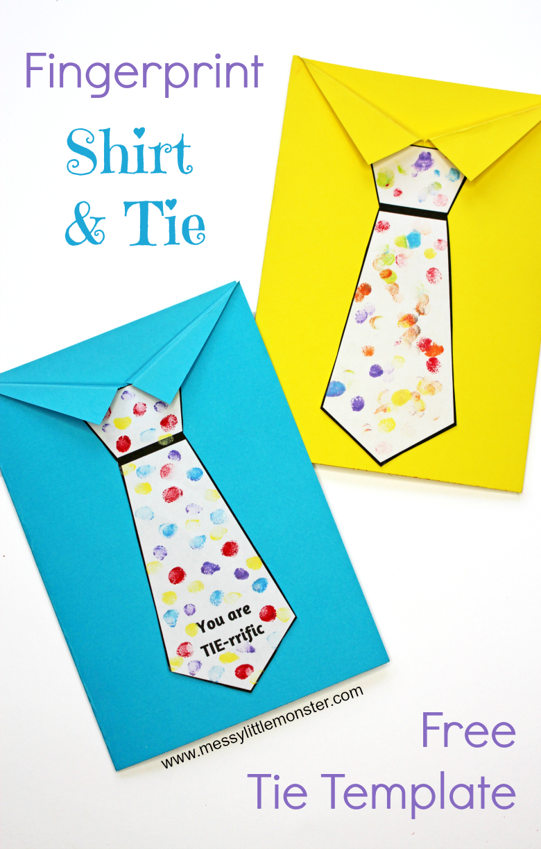Father's Day Tie Card (With Free Printable Tie Template) - Messy - Free Printable Fathers Day Poems For Preschoolers