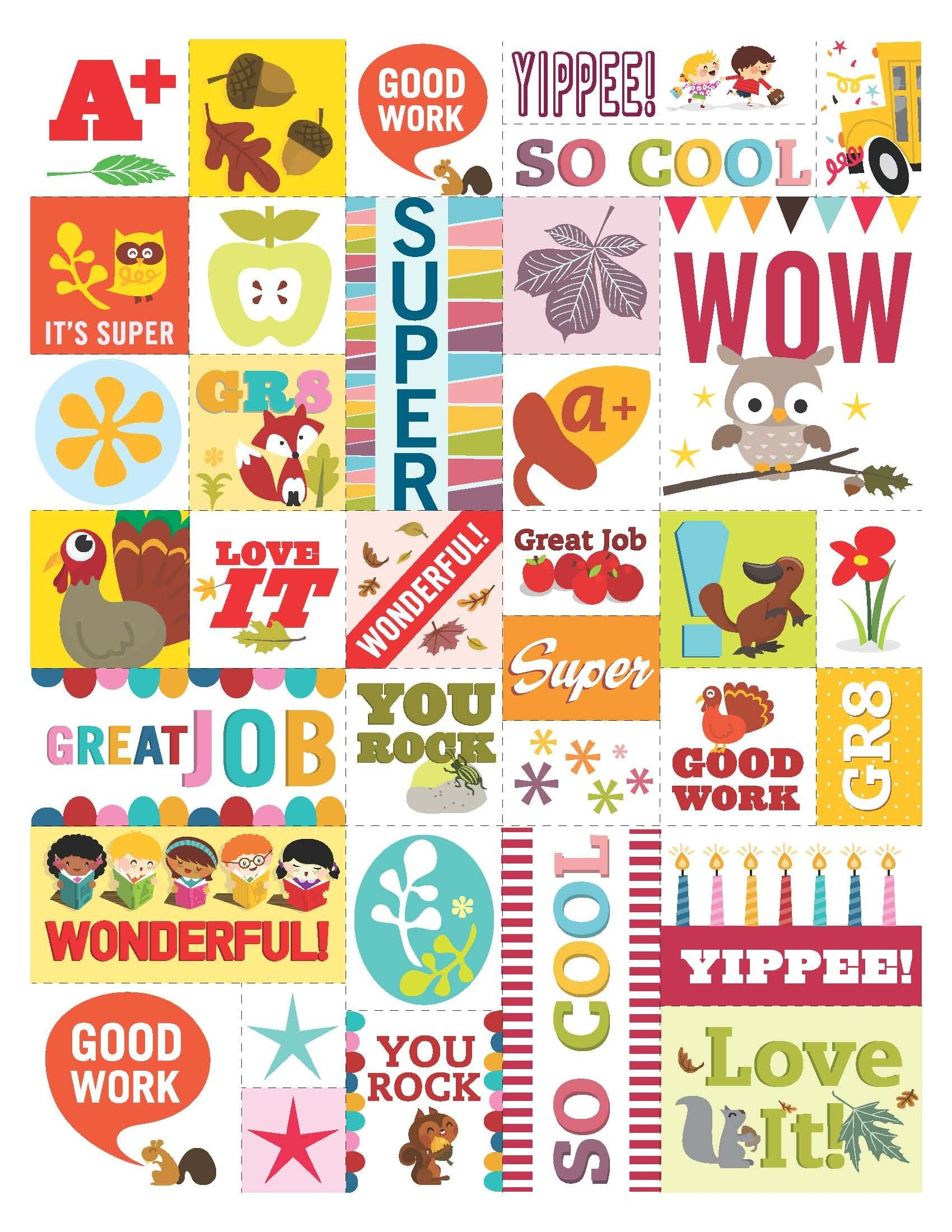 Feel-Good Stickers For Students (Feel Free To Print 'em!). From - Free Printable Stickers For Teachers