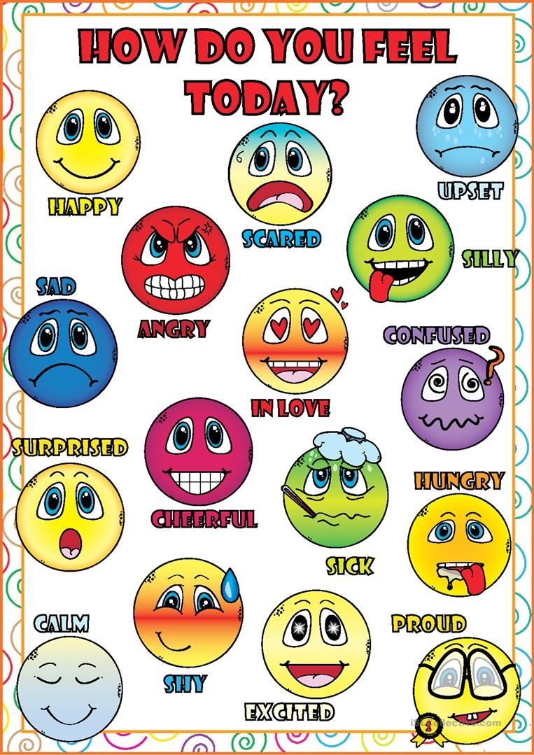 Feelings And Emotions Poster Worksheet - Free Esl Printable - Free Printable Pictures Of Emotions