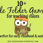 File Folder Games For Teaching Colors   Free Printable Math File Folder Games For Preschoolers