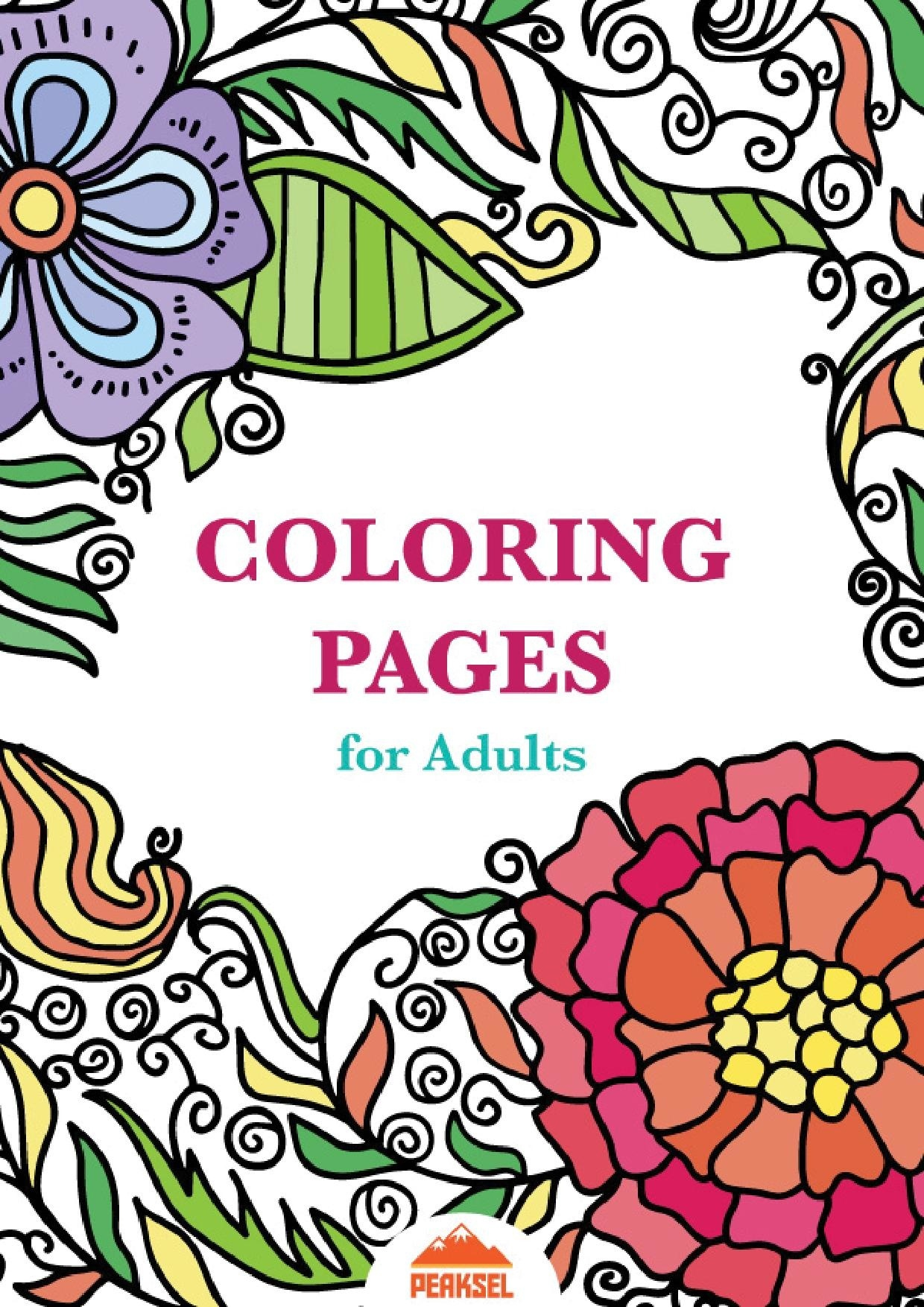 File:printable Coloring Pages For Adults - Free Adult Coloring Book - Free Printable Coloring Book Pages For Adults