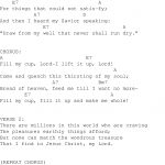 Fill My Cup Lord   Christian Gospel Song Lyrics And Chords   Free Printable Lyrics To Christian Songs