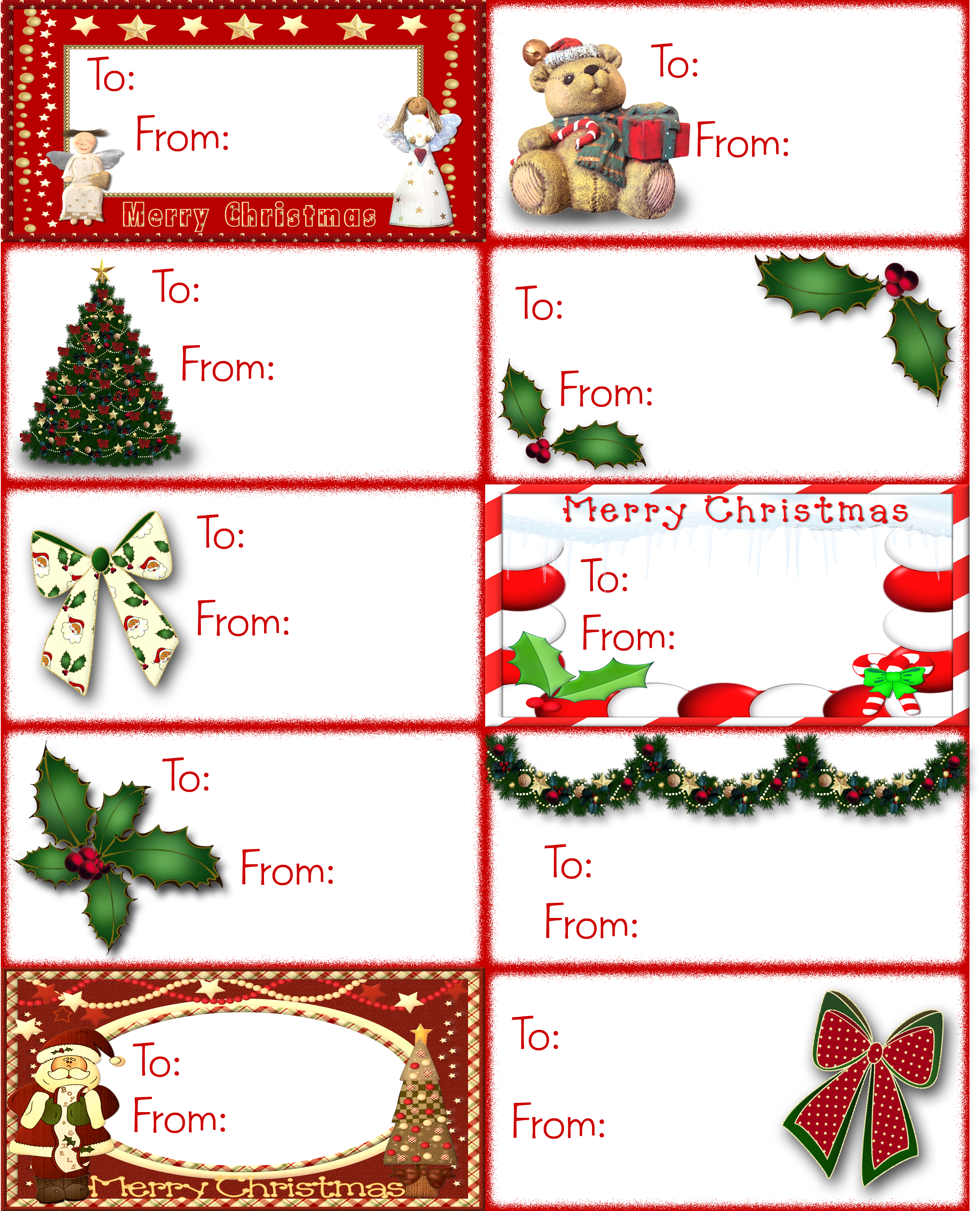 Find Tons Of Free Clip Art Images For Valentine's Day | Tags | Free - Free Printable Gift Name Tags