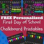 First Day Of School Printable Chalkboard Sign | The Shady Lane 1   First Day Of School Printable Free