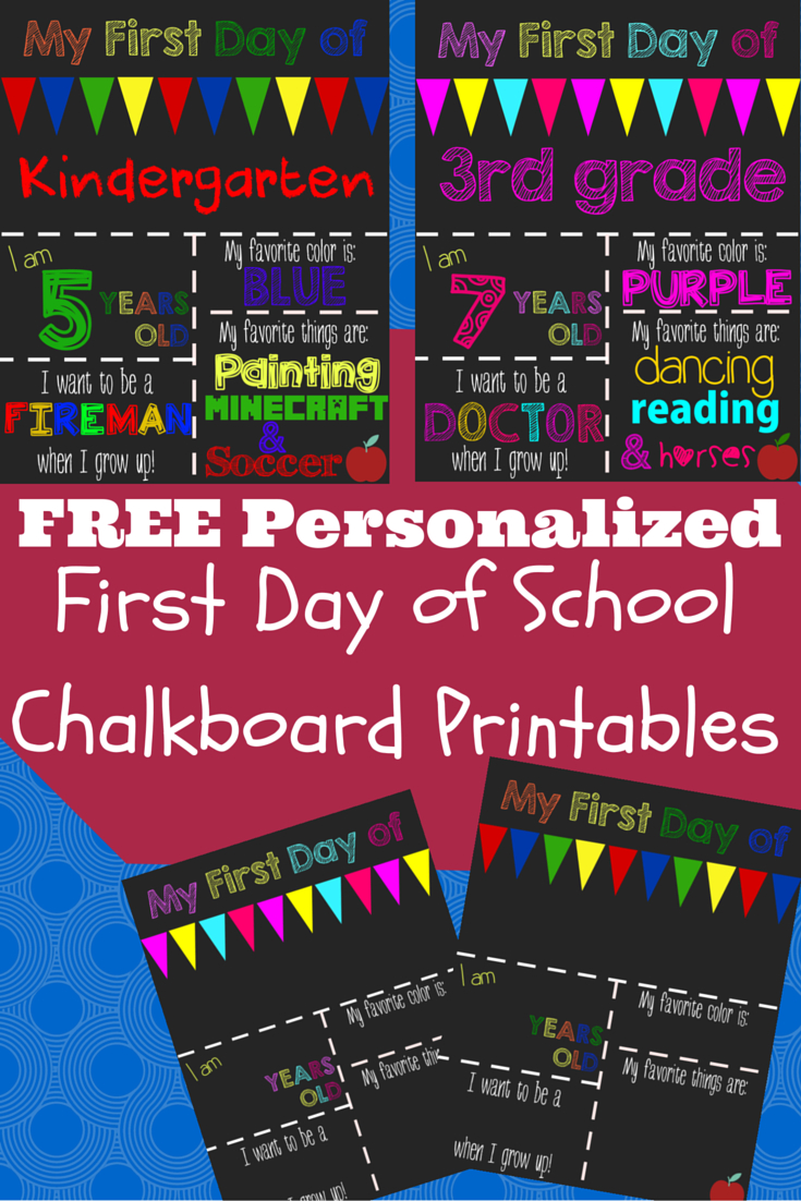 First Day Of School Printable Chalkboard Sign   The Shady Lane 1 - First Day Of School Printable Free