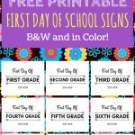 First Day Of School Printable Free 2017 2018 School Year | Print   First Day Of School Printable Free