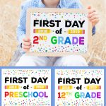 First Day Of School Signs   Free Printables   Happiness Is Homemade   First Day Of School Printable Free
