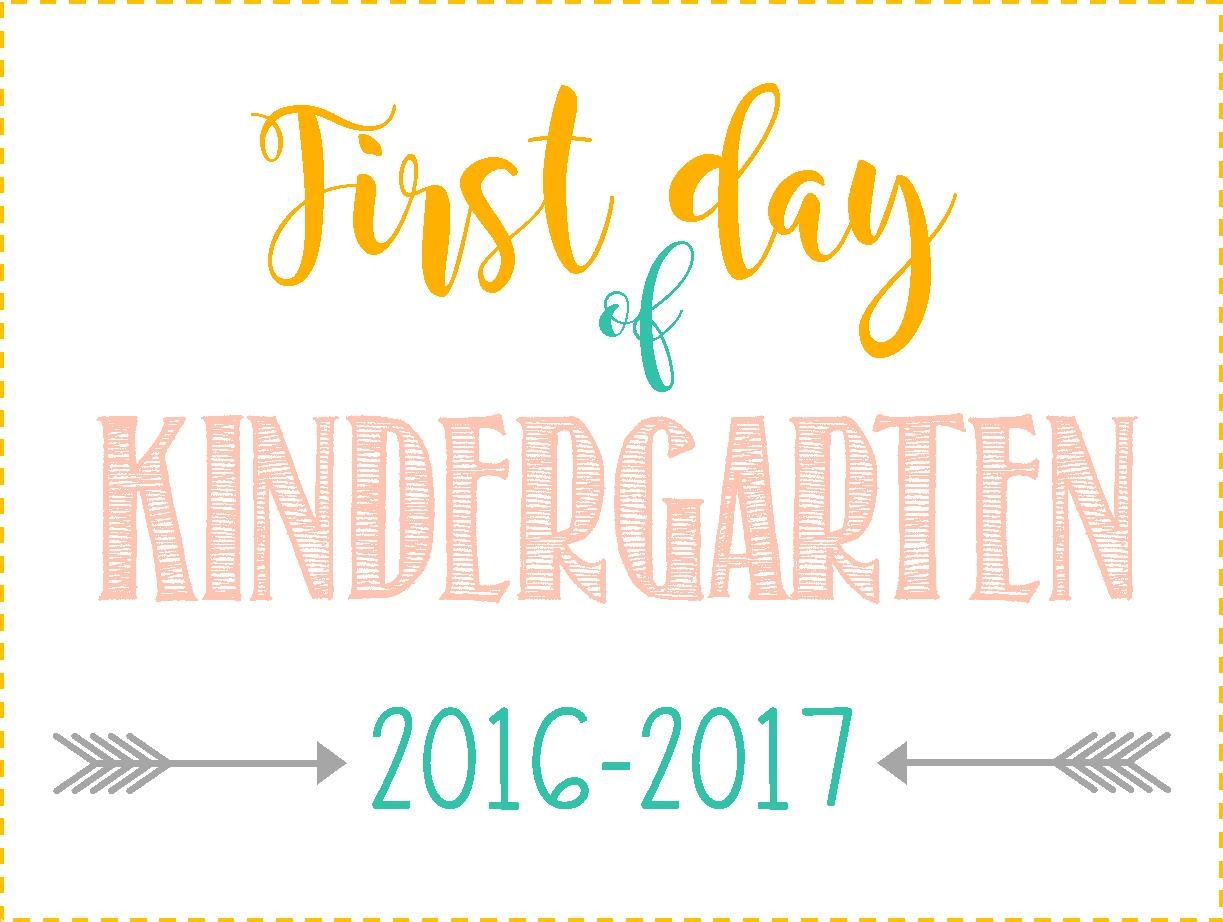 First Day Of School Signs: Free Printables *pre-School- 12Th Grade* - First Day Of Kindergarten Sign Free Printable