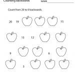 First Grade Counting Backwards Worksheet Printable | Math | 1St   Free Printable Addition Worksheets For 1St Grade