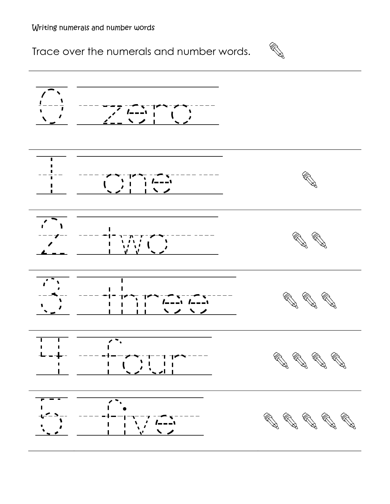 First Grade Math | First Grade Math Worksheet, Writing Numbers And - Free Printable Language Arts Worksheets For 1St Grade