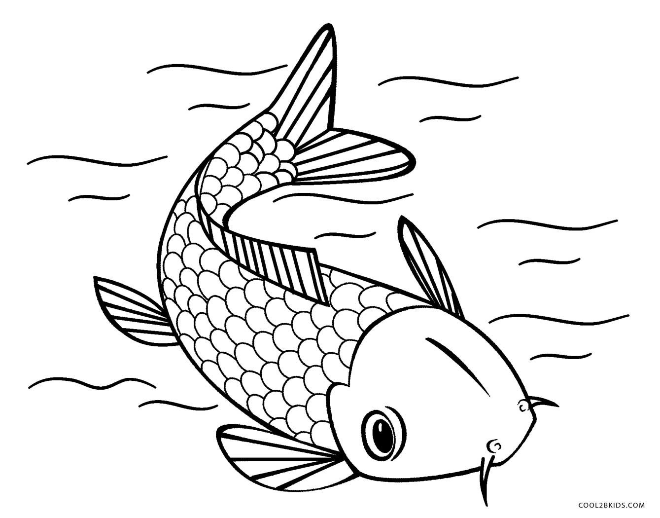 Fish Coloring Pages Free Printable Fish Coloring Pages For Kids - Free Printable Fish Coloring Pages