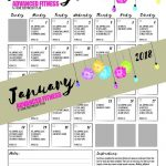 Fitness Challenge   30 Day Fitness Advanced Workout January 2018   Free Printable Workout Routines