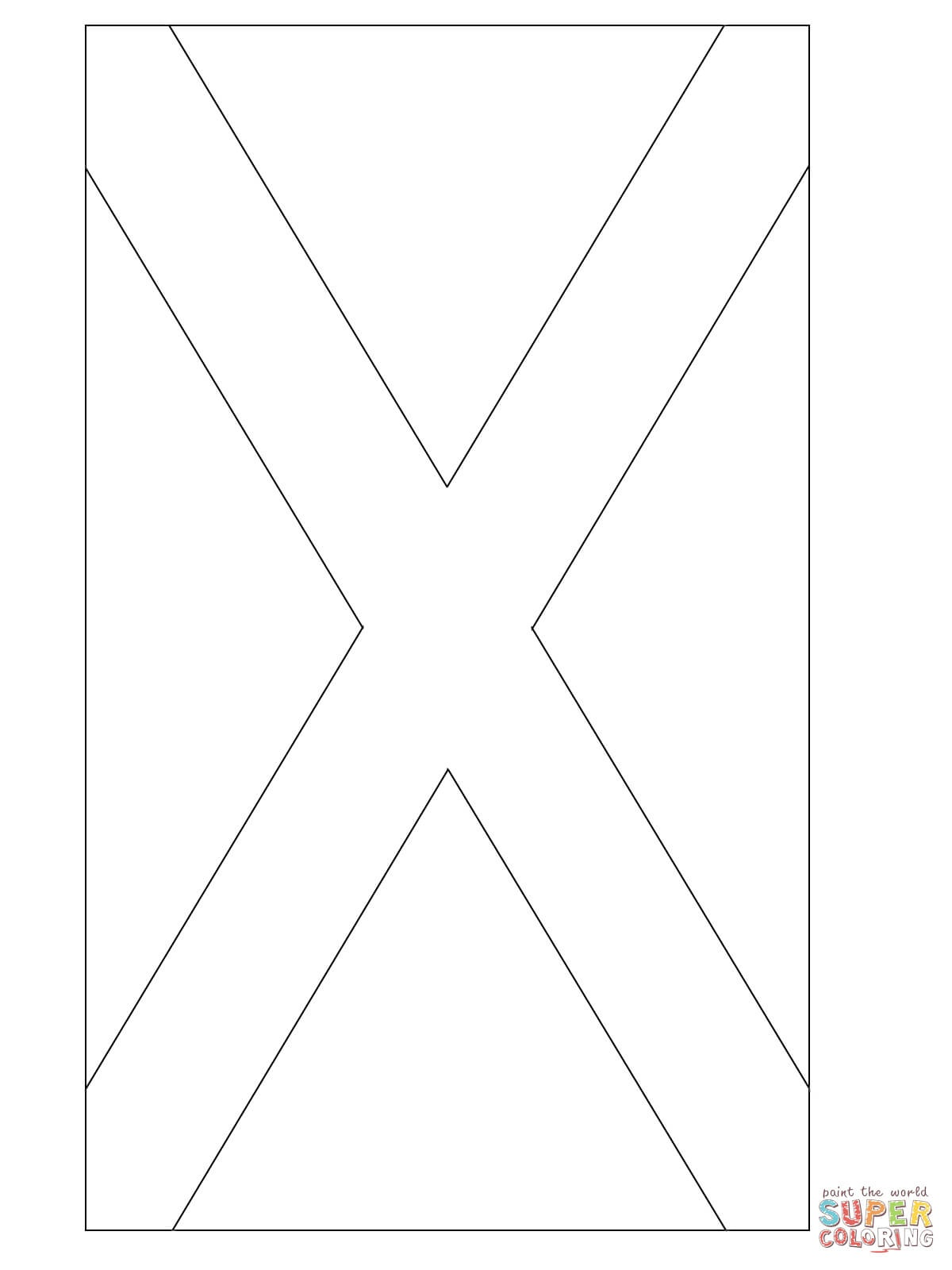 Flag Of Scotland Coloring Page | Free Printable Coloring Pages - Free Printable Scottish Flag