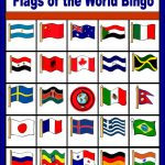 Flags Of The World Bingo   Free Printable (Only Enough For 6 Players   Free Printable Flags From Around The World