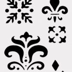 Fleur De Lis Stencil Pattern Group With 81+ Items   Damask Stencil Printable Free