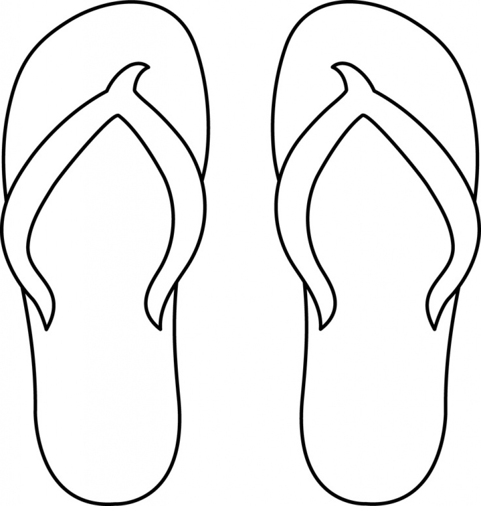 Flip Flop Drawings | Free Download Best Flip Flop Drawings On - Free Printable Flip Flop Pattern