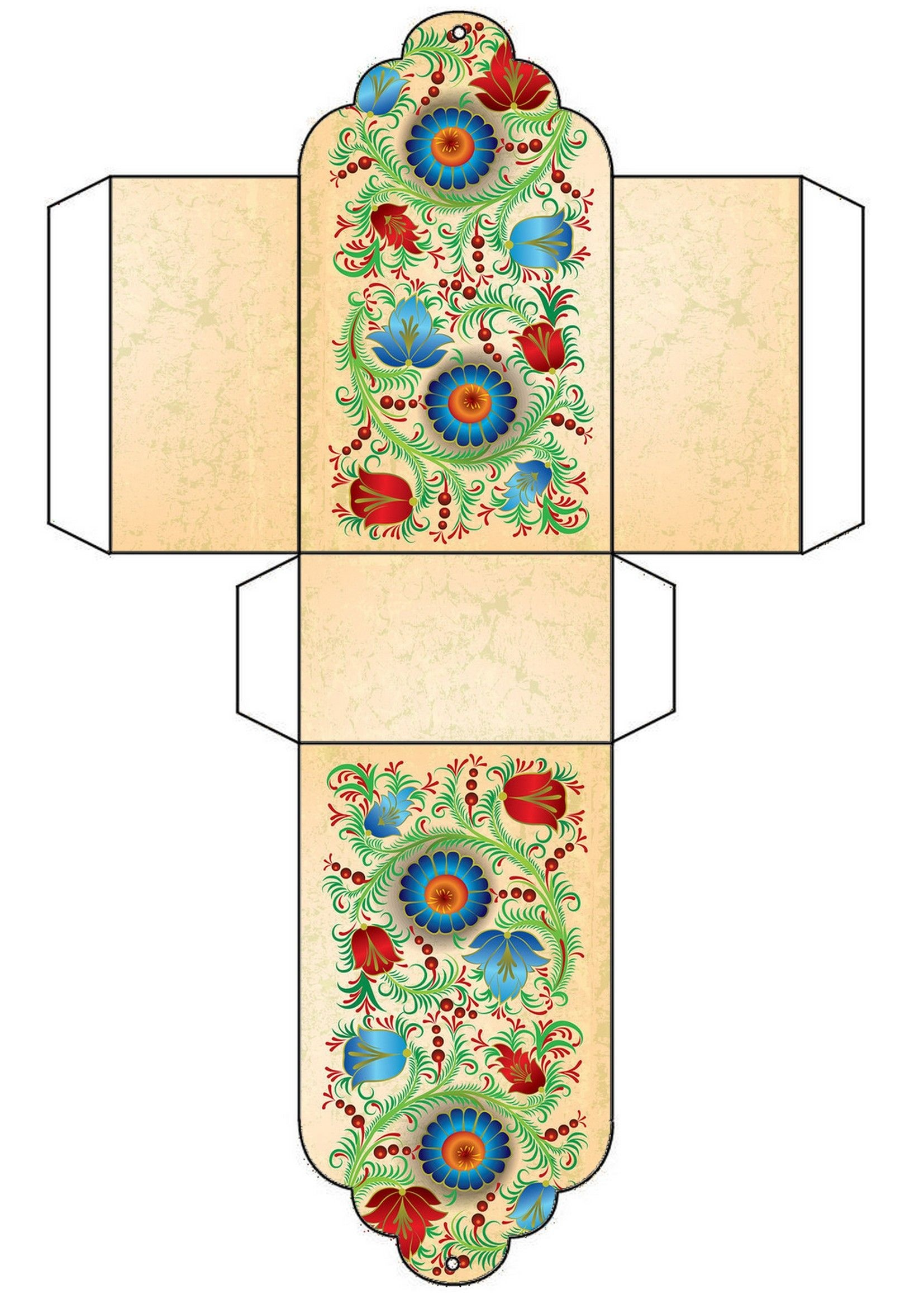 Floral Free Printable Gift Box Template … | Christmas Ideas | Diy G… - Free Printable Gift Boxes
