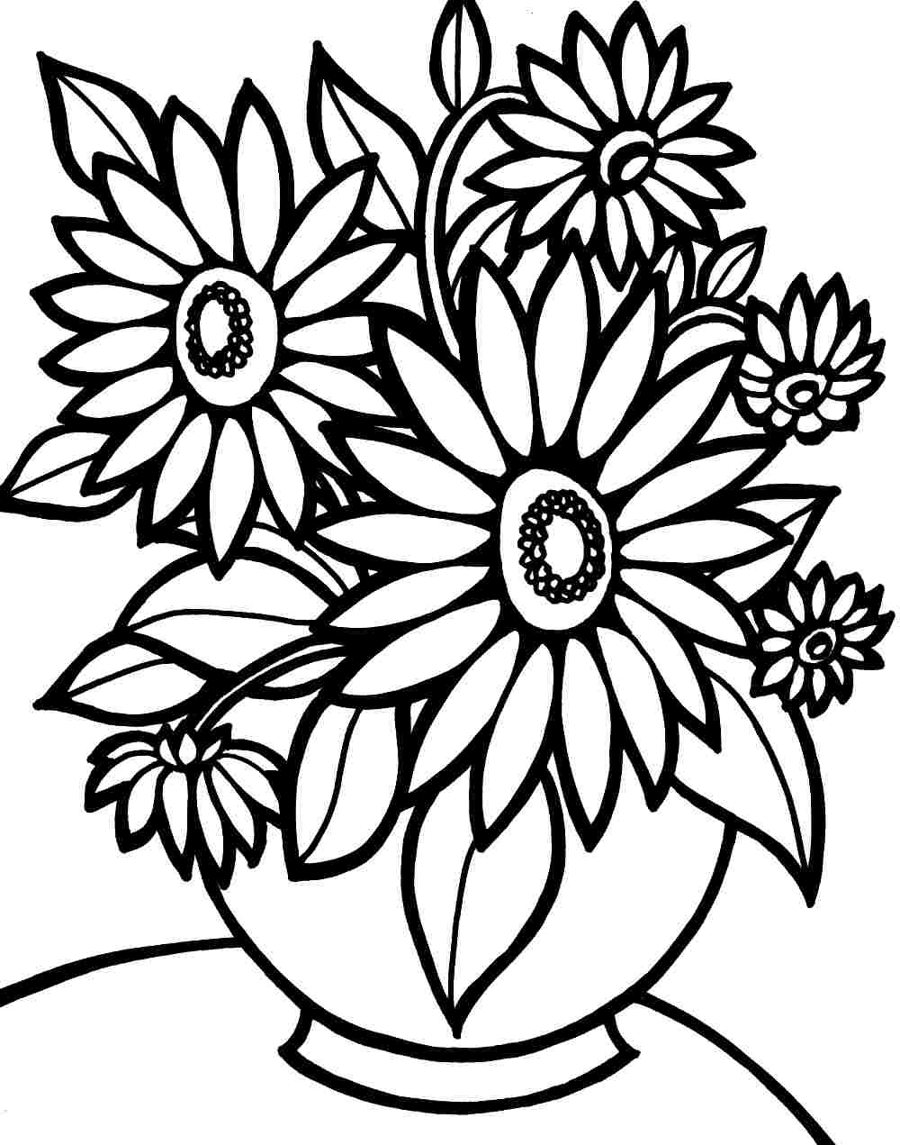 Flower Coloring Pages   Free Download Best Flower Coloring Pages On - Free Printable Flower Coloring Pages