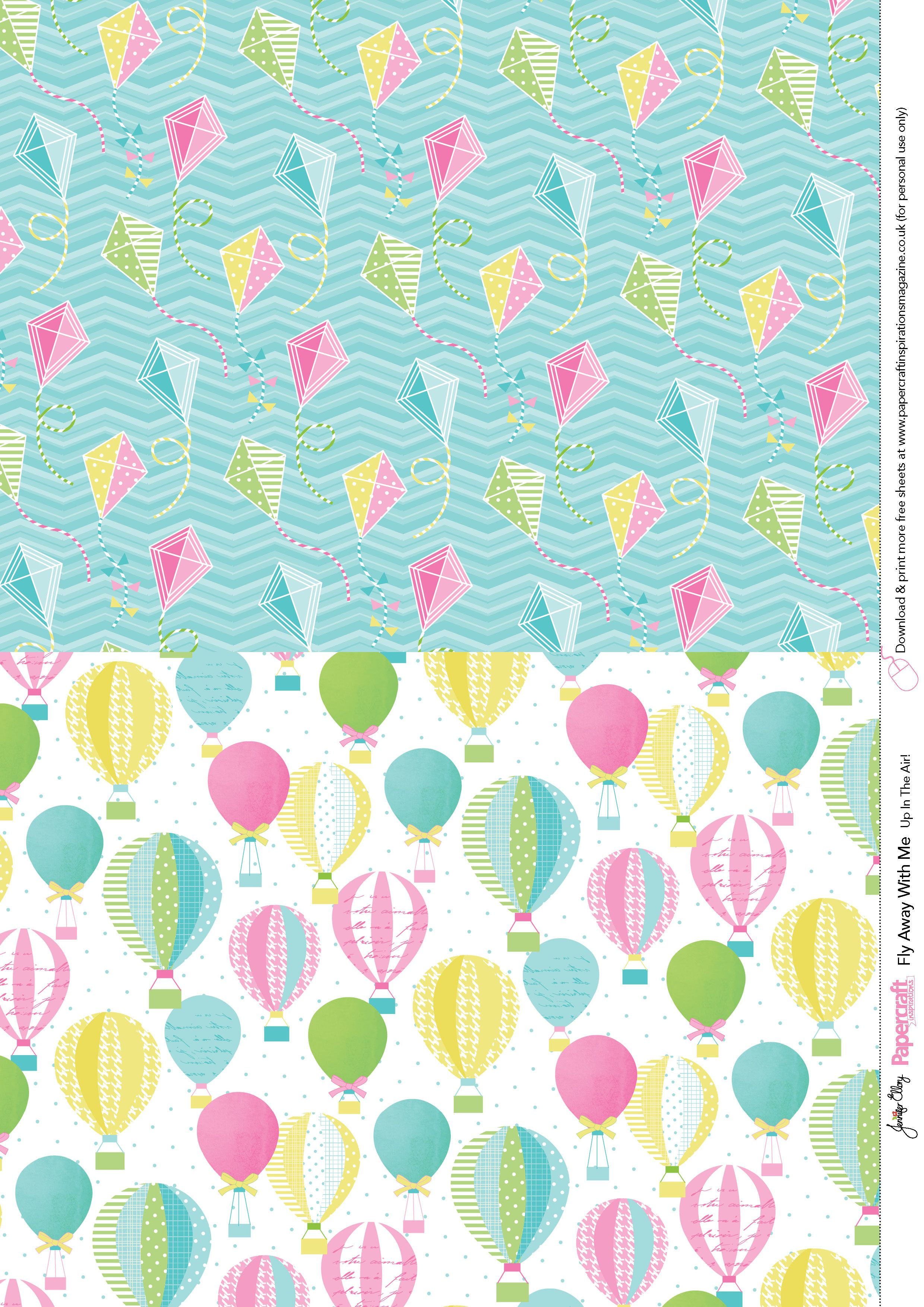 Fly Away With Me Free Printables From Papercraft Inspirations 138 - Free Printable Pattern Paper Sheets