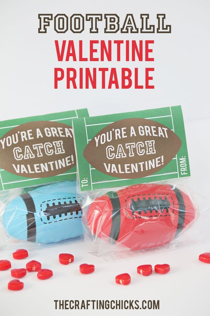 Football Valentine Printable | Printables/clipart | Valentine Box - Free Printable Football Valentines Day Cards
