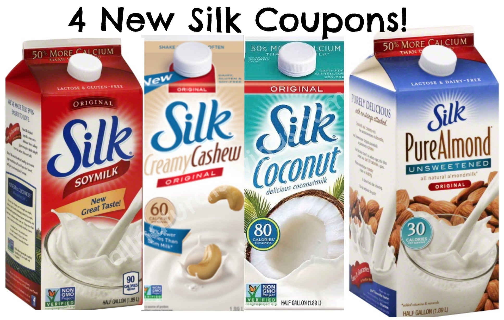 Four New Silk Dairy Free Milk Printable Coupons - All Natural Savings - Free Printable Silk Soy Milk Coupons