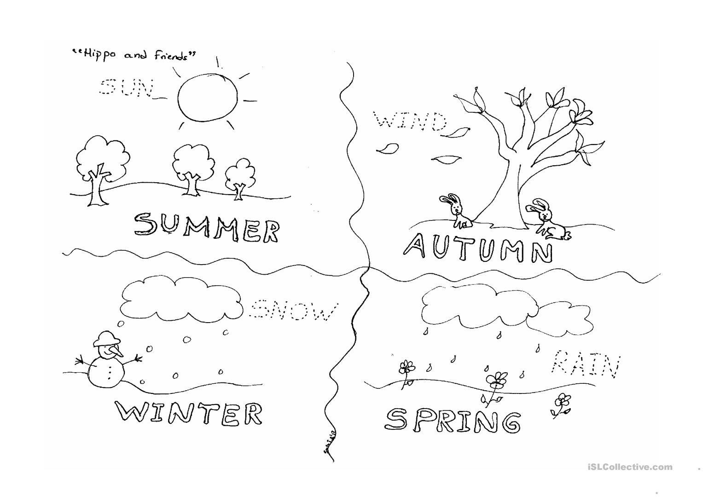 Four Seasons Worksheet - Free Esl Printable Worksheets Madeteachers - Free Printable Pictures Of The Four Seasons