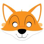 Fox Mask Template | Free Printable Papercraft Templates   Free Printable Fox Mask Template