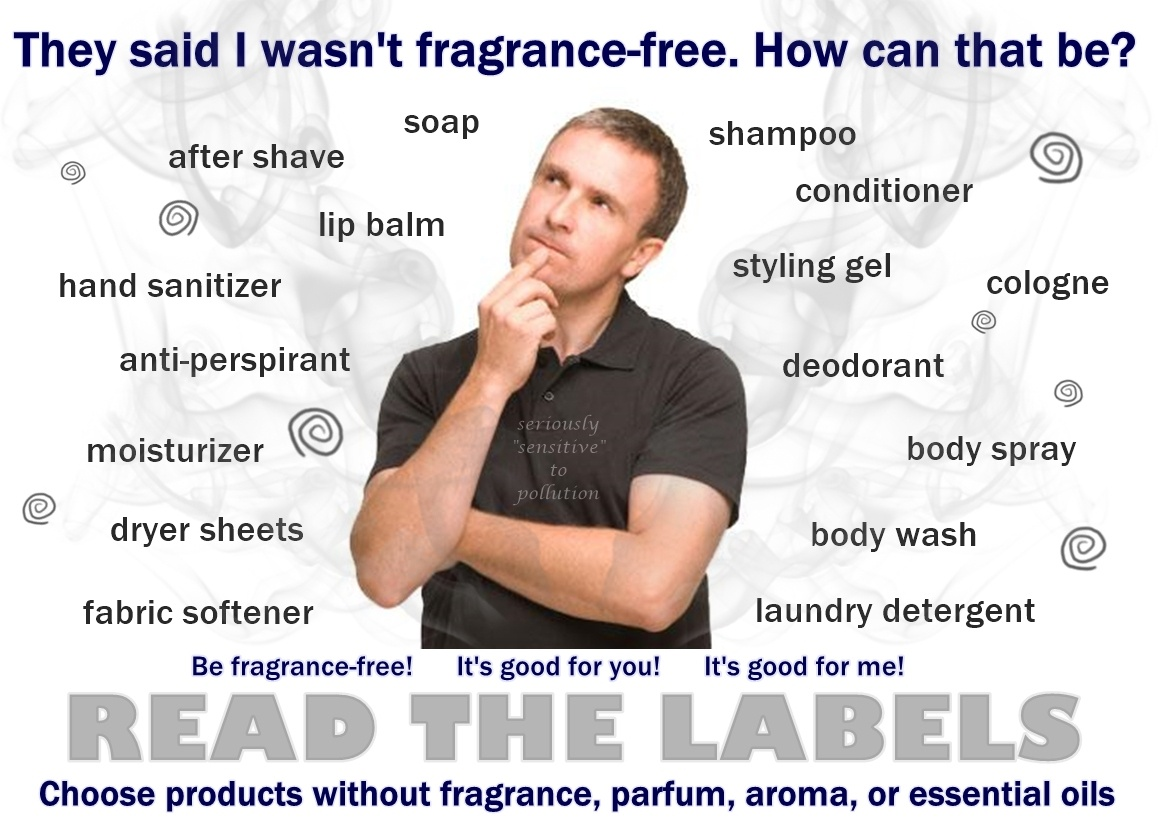 """Fragrance-Free Signs   Seriously """"sensitive"""" To Pollution - Free Printable Fragrance Free Signs"""