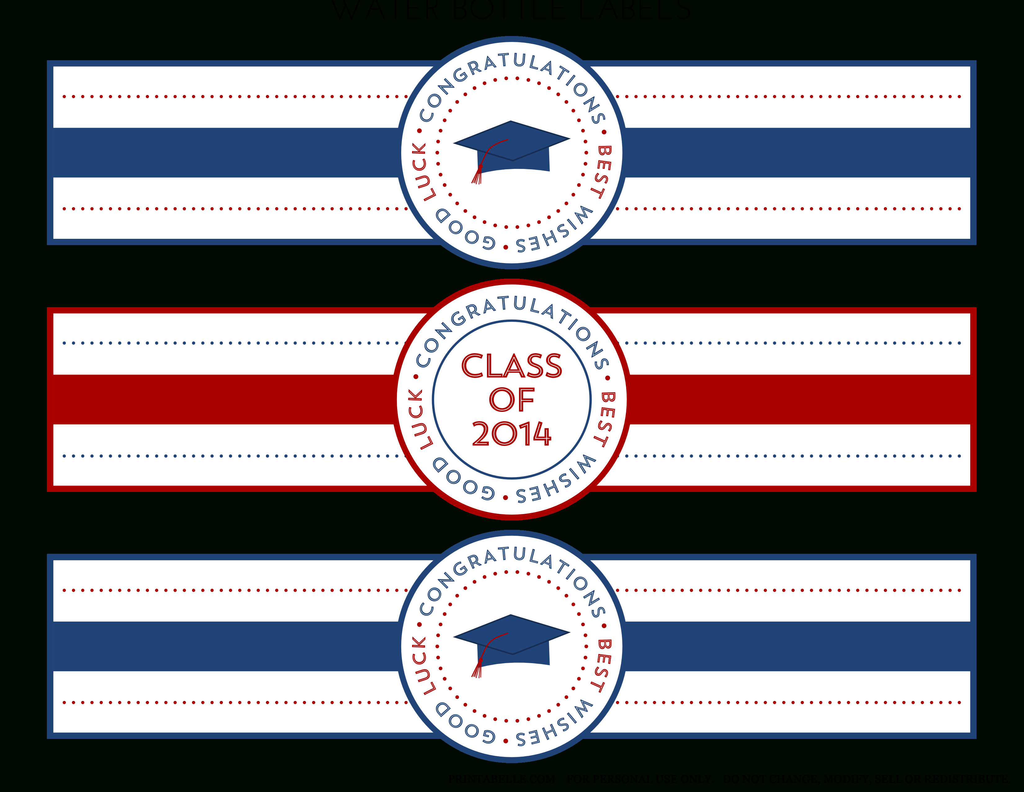Free 2014 Graduation Party Printables From Printabelle   Catch My Party - Free Printable Water Bottle Labels Graduation