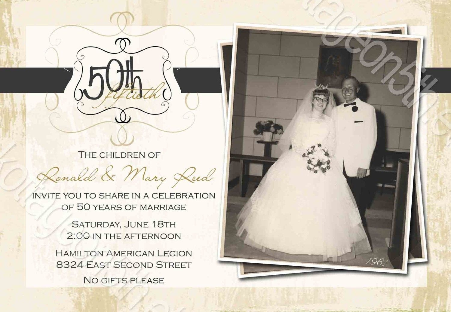 Free 60Th Anniversary Invitation Templates | David And Shirley 50Th - Free Printable 60Th Wedding Anniversary Invitations