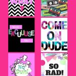 Free 80's Style Printables For All The 80's Lovers Out There   80S Photo Booth Props Printable Free