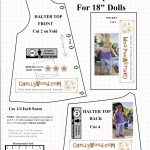 Free #agdoll Summer Shirt Pattern @ Chellywood #sewing 4#dolls   Free Printable Doll Clothes Patterns For 18 Inch Dolls