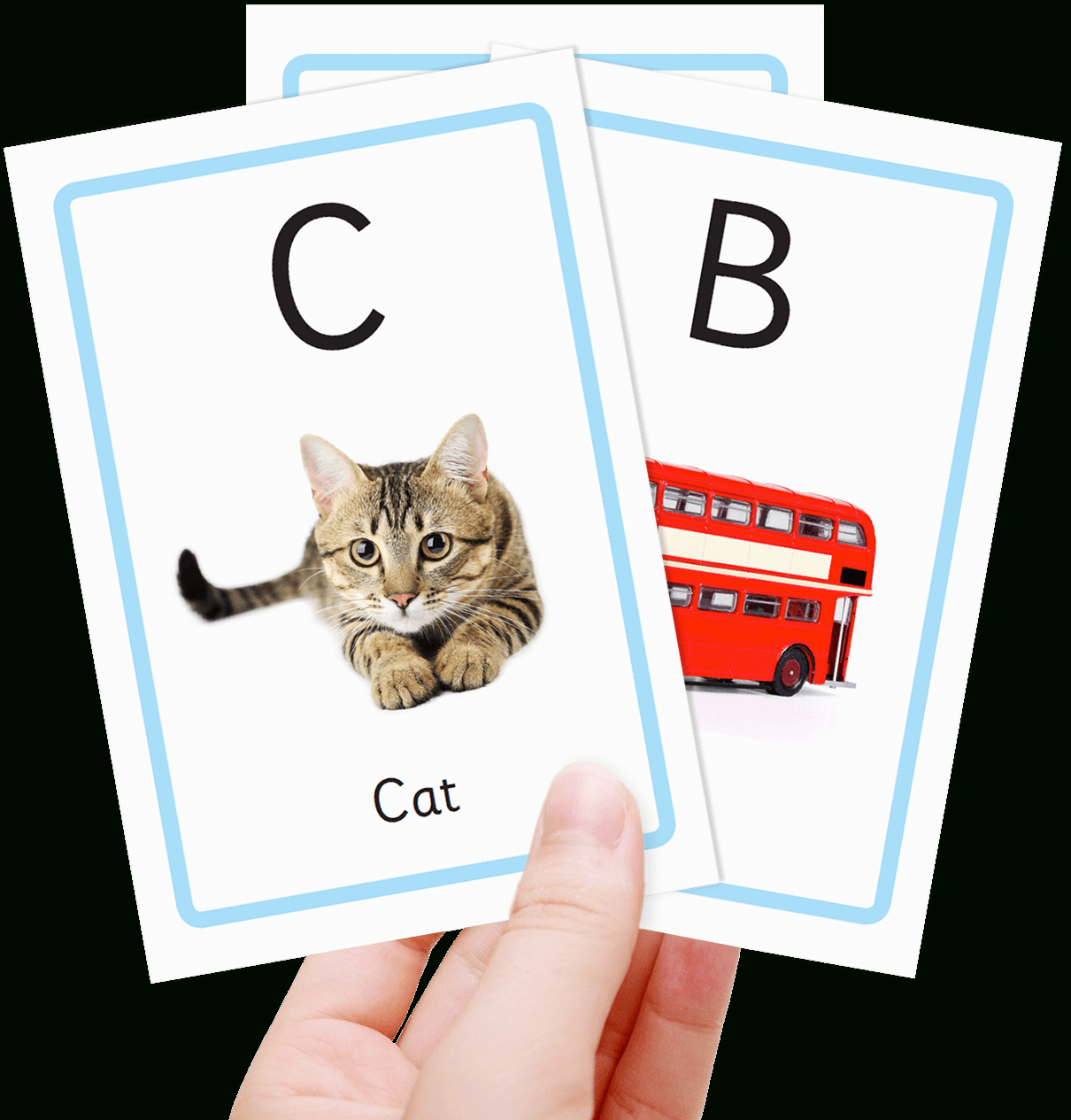 Free Alphabet Flashcards For Kids - Totcards - Free Printable Abc Flashcards With Pictures