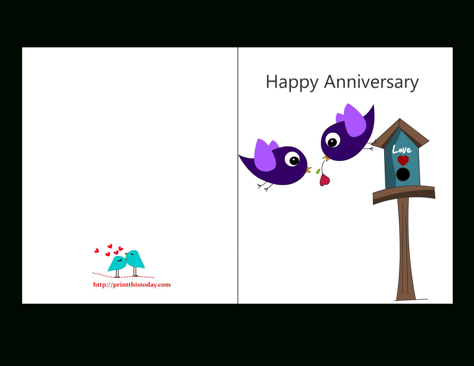 Free Anniversary Cards To Print   Free Printable Anniversary Cards - Printable Cards Free Anniversary