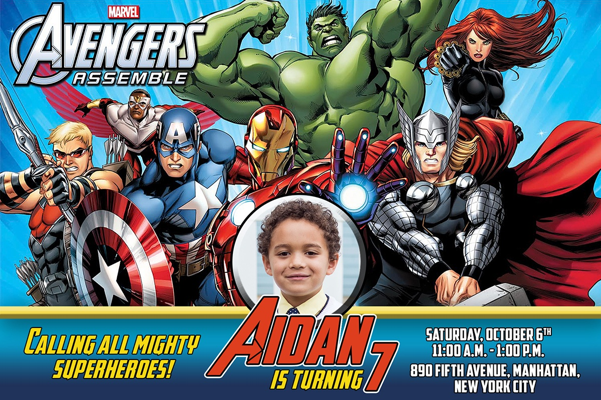Free Avengers Birthday Invitation | Dioskouri Designs - Free Printable Avengers Birthday Party Invitations