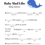Free Baby Mad Libs Game   Baby Advice   Baby Shower Ideas   Themes   Free Printable Baby Shower Games For Twins