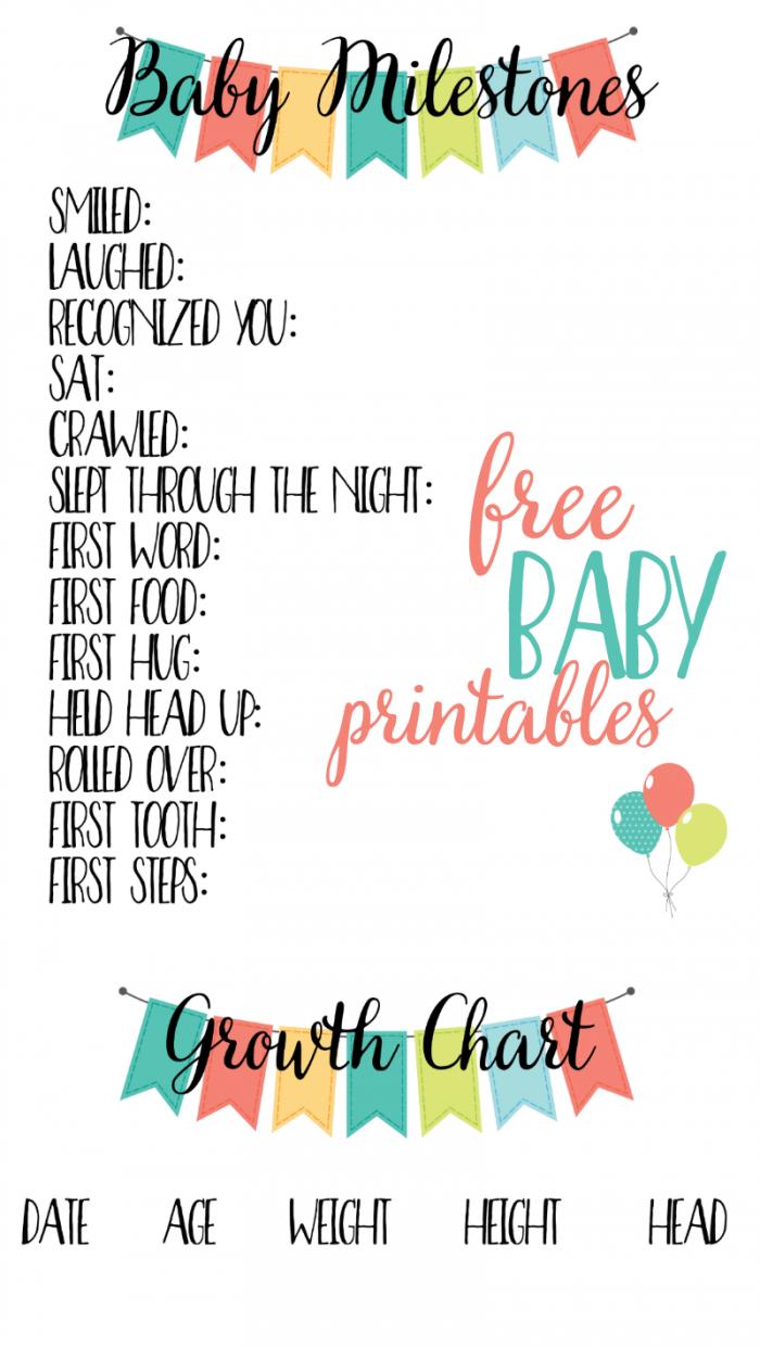 Free Baby Printables: Track Milestones   >> Free Printables   Baby - Free Printable Baby Memory Book