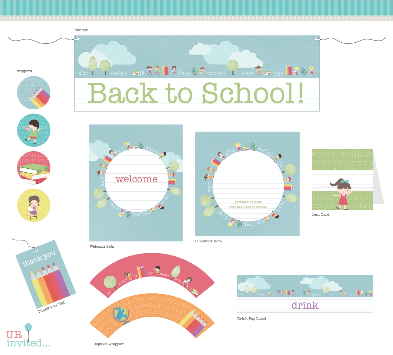 Free Back To School Printable From Urinvited | Catch My Party - Free Printable Back To School