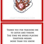 Free Baseball/football Father's Day Poem Printable   Great Gift   Free Printable Fathers Day Poems For Preschoolers