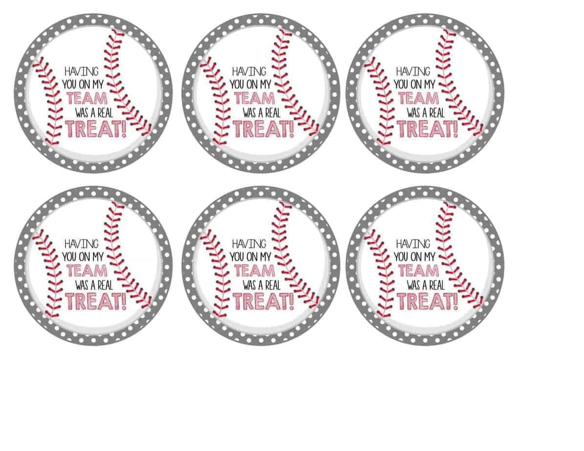 Free Baseball Tags + Rice Krispies Treats®   Mimi's Dollhouse - Free Printable Baseball Favor Tags