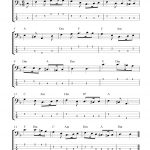 Free Bass Guitar Tab Sheet Music, Greensleeves   Free Printable Guitar Tabs For Beginners