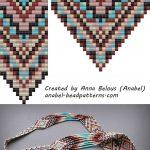 Free Bead Patterns Split Loom Necklace Beadwork Beadweaving   Free Printable Loom Bracelet Patterns