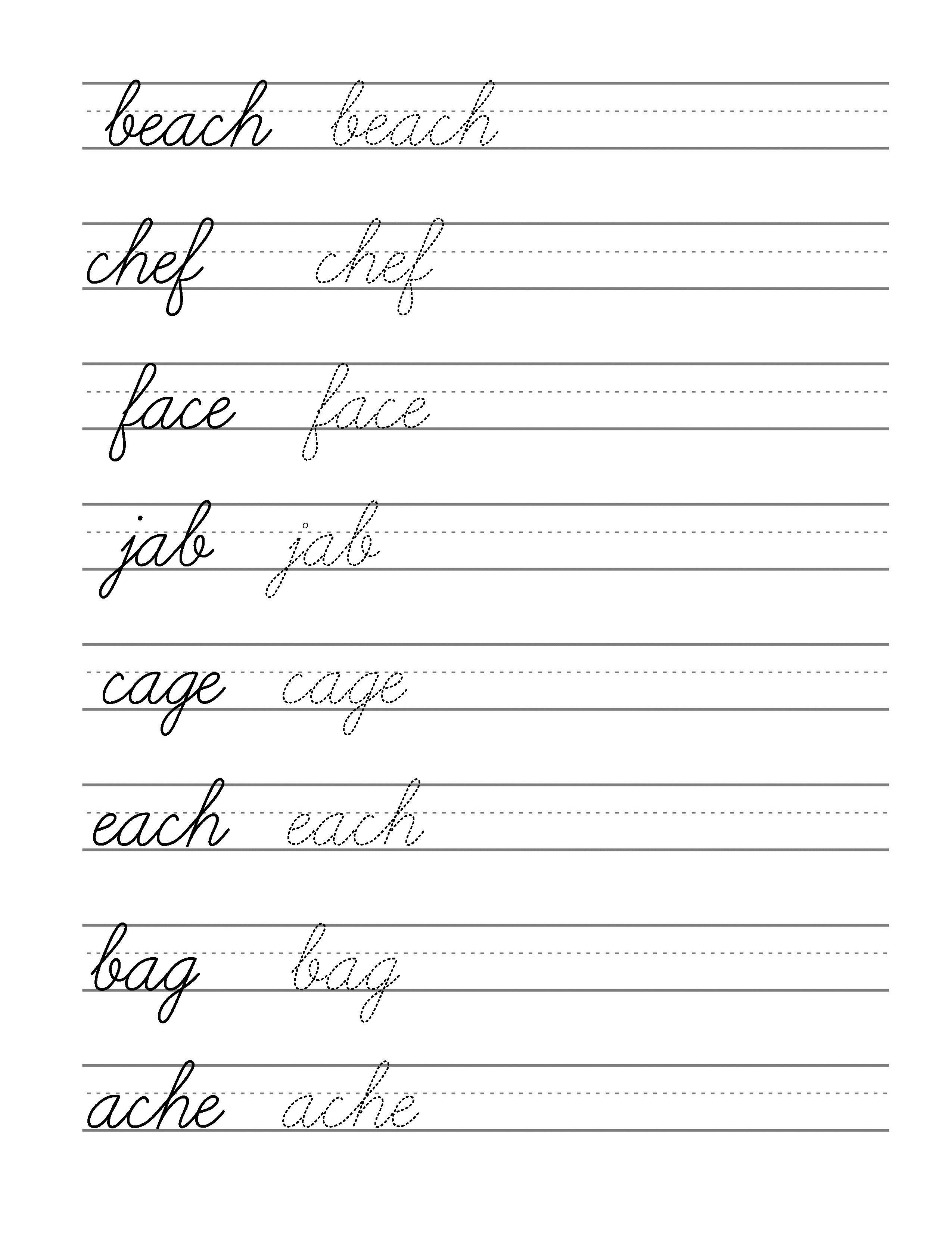 Free Beginning Cursive - Writing Template Part 3   Writing   Writing - Free Printable Cursive Writing Paragraphs