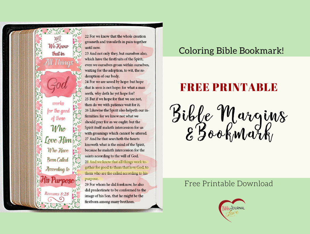 Free Bible Verse Coloring Bookmark Fits Bible Journal & Planner - Books Of The Bible Bookmark Printable Free