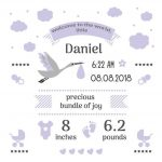 Free Birth Stats Board Svg, Png, Eps & Dxf  Free Svg & Png   Free Printable Baby Announcement Templates