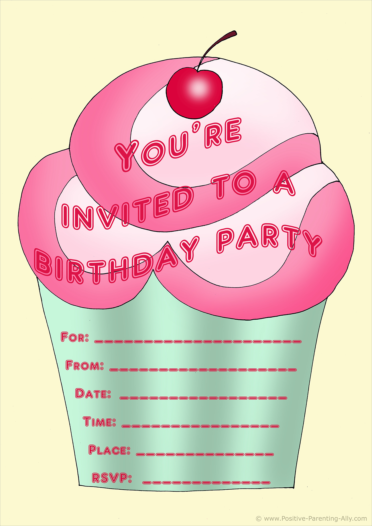 Free Birthday Party Invites For Kids In High Print Quality - Free Printable Girl Birthday Invitations